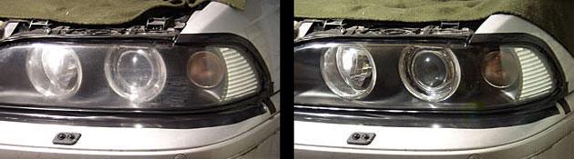 Оптика до и после полировки