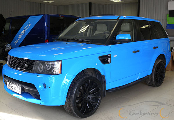 range rover sport синий фото