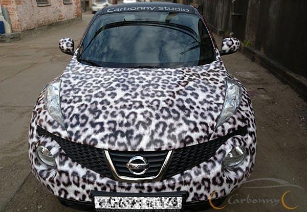 Автовинил nissan juke в леопардовой шкуре